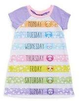 AME Sleepwear Little Girl's & Girl's Emoji Roundneck Nightgown