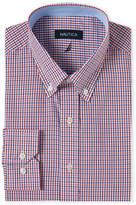 Nautica Red & Navy Tattersall Classic Fit Dress Shirt