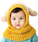 Topda123 Baby Girls Boys Winter Hat Scarf Woolen Earflap Hood Scarves Skull Caps