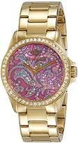 Juicy Couture Womens Quartz Watch, Analogue Classic Display and Gold Plated Strap 1901424