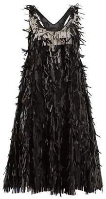 Norma Kamali Sequin-fringed Mini Dress - Womens - Black