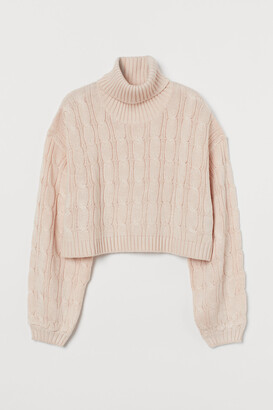 H&M Cable-knit Turtleneck Sweater