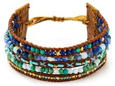 Chan Luu Labradorite Mix Wide Bracelet