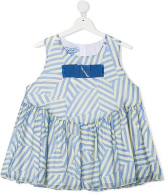 Mi Mi Sol TEEN striped pleated dress