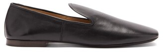 Lemaire Square-toe Leather Loafers - Black
