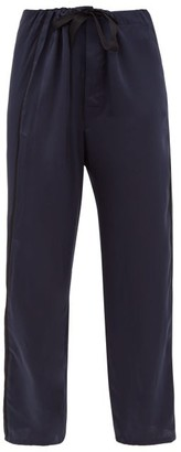 Araks Ally Silk-charmeuse Pyjama Trousers - Navy