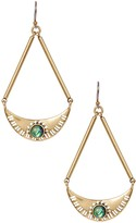 Lucky Brand Abalone Semi Circle Drop Earrings