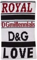 Dolce & Gabbana Knit Wristband, White