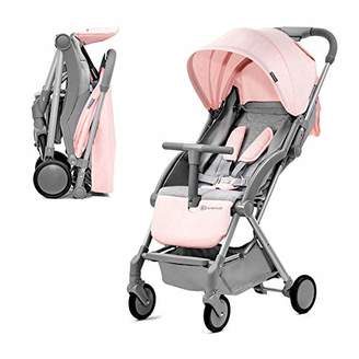 Kurt Geiger Kinderkraft Lightweight Stroller PILOT, Baby Pushchair, Buggy, Compact Folding, Ajustable Footrest, Lying Position, with Accessories, Rain Cover, Footmuff, from Birth to 3.5 Years, 0-15 kg, Pink