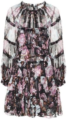 Zimmermann Charm floral silk georgette minidress