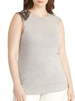 Lauren Ralph Lauren Plus Beaded Cap-Sleeve Top