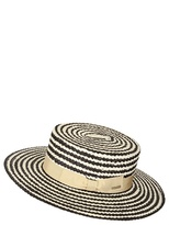 Lady Boater Woven Coburg Straw Hat