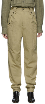 Isabel Marant Tan Tapered Yerris Trousers