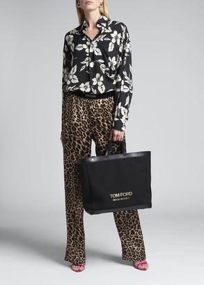 Tom Ford Leopard-Print Silk Pajama Pants