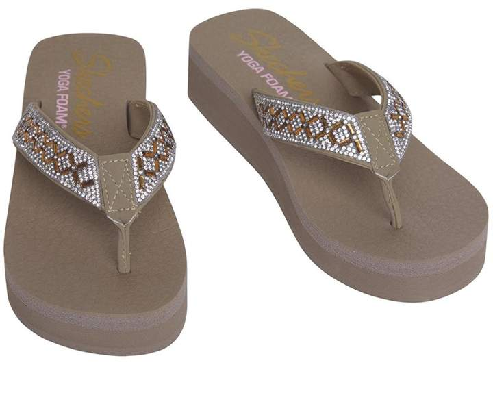 Princess Womens Flip Flops Vinyasa Lotus Taupe Wedged 5jq34RLA