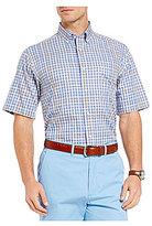 Daniel Cremieux Signature Textured Check Short-Sleeve Woven Shirt