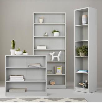 Metro Small Wide Bookcase - Grey