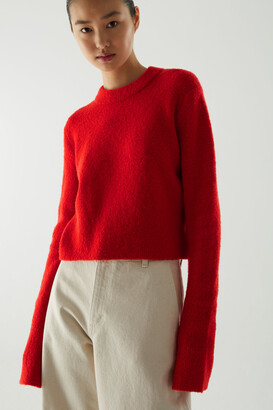 Cos Cropped Wool Mix Jumper