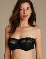 Marks and Spencer Luxury Embroidered Non-Padded Strapless Bra DD-G