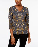 Charter Club Scroll-Print Top, Created for Macy's