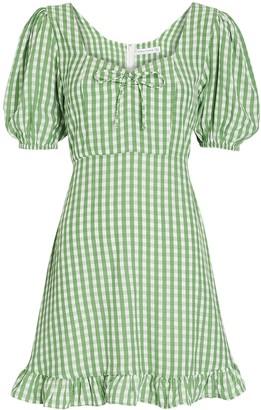 Faithfull The Brand Agathe Gingham Mini Dress