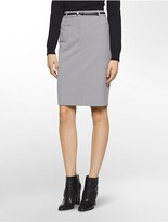 Calvin Klein Luxe Straight Suit Skirt