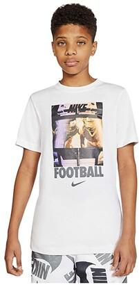 Nike Kids NSW Football Huddle Tee (Little Kids/Big Kids) (Black) Boy's T Shirt