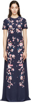 Erdem Navy Samira Dress