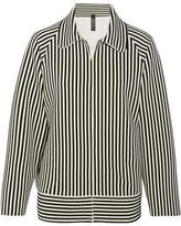 Norma Kamali Striped Stretch-jersey Jacket - Black