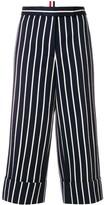 Thom Browne Chenille Banker Stripe cotton blend Straight Leg Trouser