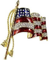 Stars & Stripes Products Elegant Waving Flag Pin/Brooch