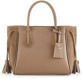 Longchamp Penelope Small Leather & Suede Tote Bag, Taupe