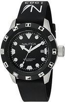 Nautica Unisex NAD09509G NSR 100 FLAG Analog Display Quartz Black Watch