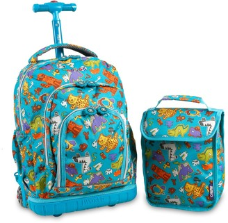 "J World Lollipop 16"" Rolling Backpack with Lunch Bag -"