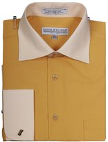 Sunrise Outlet Men's Two Tone French Cuff Shirt - 18.5 36-37