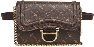 Nine West Dark Brown Logo Crossbody Belt Bag -Harper