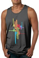 LGBT Love Funnytop Human Rights Are My Pride LGBT Tank-top Activewear For Young Men