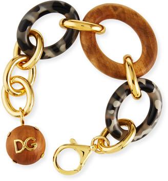 Dolce & Gabbana Tortoise and Wood Link Bracelet