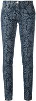 Kenzo snakeskin print skinny jens - women - Cotton/Spandex/Elastane - 38