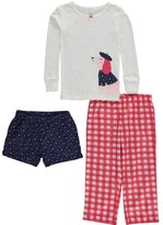 "Carter's Little Girls' Toddler ""Doggone Cute"" 3-Piece Pajamas"