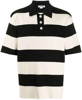 Sunnei Stripped Knitted Polo Shirt