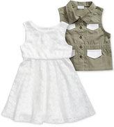 Sweet Heart Rose 2-Pc. Dress & Vest Set, Toddler Girls (2T-4T)
