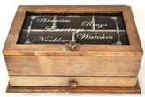 Glass Top Typography Jewellery Box