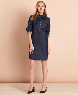 Brooks Brothers Cotton Denim Shift Dress