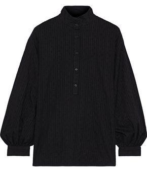 Nili Lotan Leona Crochet-trimmed Fil Coupe Cotton Shirt