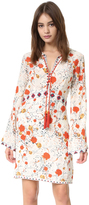 The Kooples Hippy Flower Print Silk Mini Dress