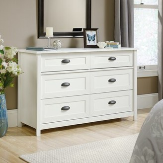Three Posts Rossford 6 Drawer Double Dresser Color: Soft White