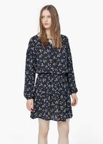 Mango Outlet Floral-Print Flowy Dress