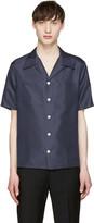 Valentino Navy Silk Shirt
