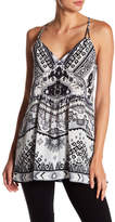 Hale Bob Patterned Silk Cami Tank
